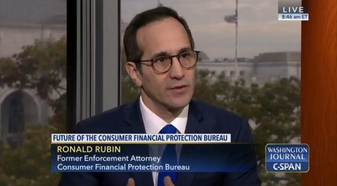 C-SPAN Interview: Future of the Consumer Financial Protection Bureau (November 18, 2017)