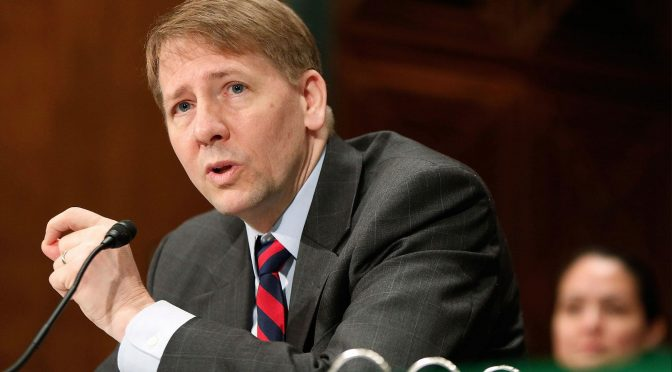 Richard Cordray Delivers the Consumer Financial Protection Bureau Punchline (National Review, November 27, 2017)